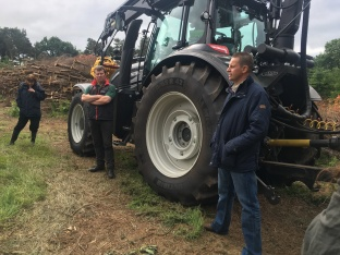 BENI chair, John Martin, and Glendale Tree services owner Stewart Cameron (left) address those who attended the demonstration