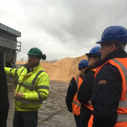 Site visit at Balcas wood processing plant